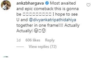 karan patel to return in yeh hai mohabbatein; wife ankita bhargava calls it 'epic comeback'