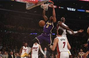 anthony davis, lebron james prove to be too much to handle as heat fall to lakers 95-80