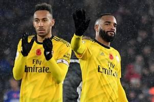 Alan Shearer says Arsenal duo Aubameyang and Lacazette should 'scream' at team-mates