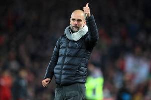 Pep Guardiola sarcastically mocks referee Michael Oliver after Liverpool defeat