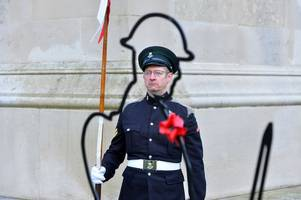 Lest we forget: Leicester's poignant Remembrance service in pictures