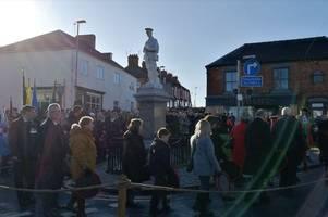 Remembrance Day 2019 - parades in Hanley, Stoke, Fenton, Burslem, Longton, Tunstall, Newcastle, Kidsgrove, Stone, Stafford, Biddulph, Leek, Audley, Blythe Bridge and Normacot
