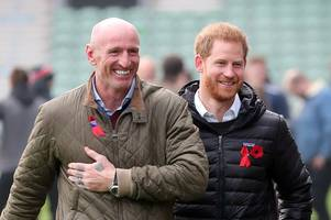 gareth thomas and prince harry join forces in fight against hiv as royal calls rugby legend an 'excellent role model for anyone living in fear'