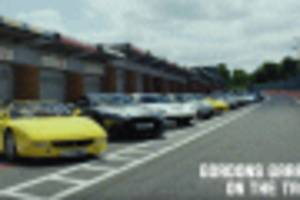 gordon ramsay takes his supercar collection to the track