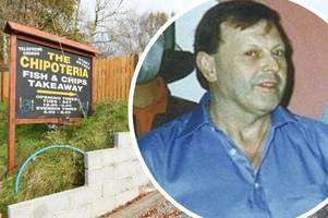 husband geoffrey bran 'burned wife mavis to death at chip shop with scalding cooking oil'