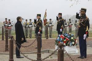 france's macron marks armistice day 101 years after end of wwi