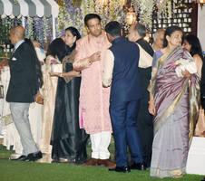 nayantara kothari pre-wedding bash: isha ambani dazzles in an ivory floral ensemble