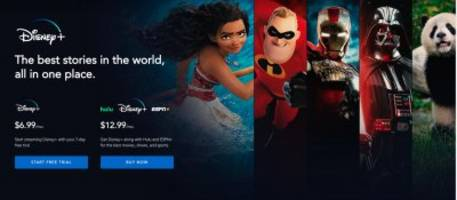 this is what using disney's new $7 a month streaming service looks like