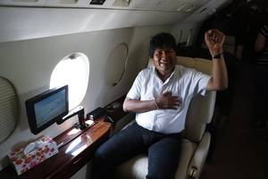 Former Bolivian President Evo Morales tweets that he is departing Bolivia for Mexico, which has ...