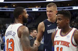 porzingis returns as knicks show signs of chaos he escaped