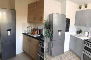 diy mum transforms kitchen for ludicrously low cost after being unable to afford new one
