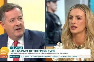 piers morgan and 'peru two' michaella mccollum's explosive row over using gmb to sell book