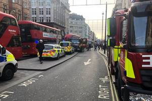 person suffers 'potentially life-threatening injuries' in oxford circus tube incident