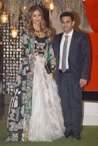 natasha poonawalla shimmers in gold with 'the posers' in her latest instagram post