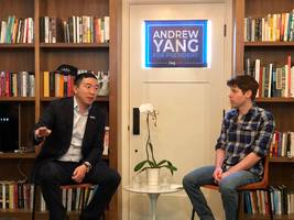 andrew yang preached his tech-friendly gospel at sam altman's san francisco house: you can't treat tech like oil companies and breaking up amazon won't bring malls back
