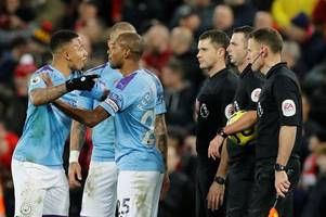 man city 'make formal complaint' over referee michael oliver after liverpool defeat