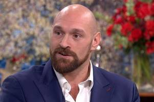 tyson fury opens up to holly willoughby in emotional this morning interview on mental health