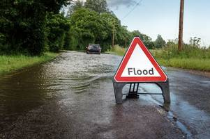 flooding on staffordshire roads as alerts remain in force for rivers in area