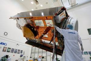 sea-level monitoring satellite on show