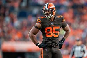 nfl told to ban myles garrett for 30 years as 'hood fight' mars browns win