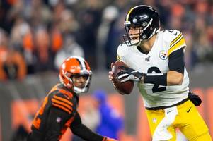 pittsburgh steelers fans blast mason rudolph during 'stinker' at cleveland browns