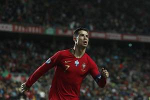 another cristiano ronaldo hat-trick takes portugal close to euro 2020 qualification - in pictures