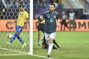 football friendly: lionel messi scores on argentina return to sink brazil