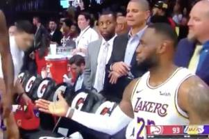 lebron james' brilliant reaction to being snubbed by lakers star dwight howard