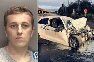 130mph car thief pulled from burning audi after ploughing into eddie stobart lorry in m6 police chase