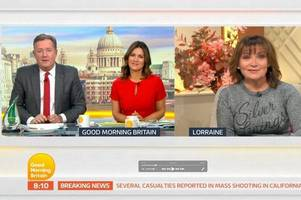 lorraine kelly gatecrashes jennifer arcuri gmb interview - and it's savage