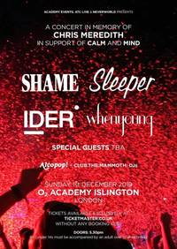 shame, ider, whenyoung, sleeper to play one off london show