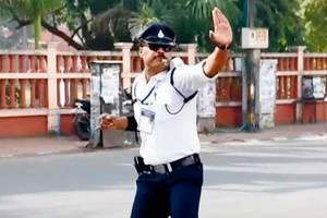 indore's dancing cop knocks out vvs laxman