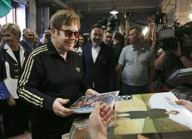 Elton John says he 'had to learn to walk again' after serious infection nearly killed him