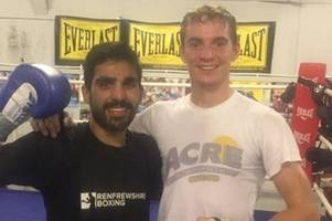 boxer gary rae hoping to get one back for renfrewshire boxing club after kash farooq's shock defeat