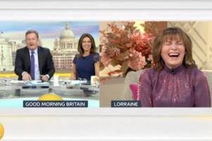 hilarious lorraine kelly reckons she'd 'win survival fight' with jennifer arcuri and esther mcvey