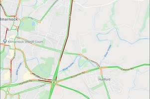 Rush-hour delays for A77 commuters in Kilmarnock