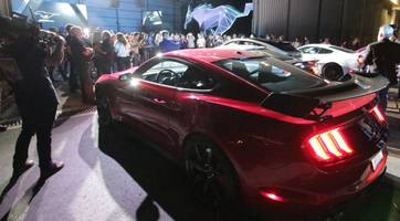 ford took over tesla's electric avenue for mustang mach-e introduction