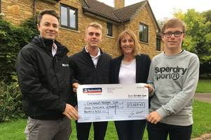 young golfers swing into action for huge fundraising drive