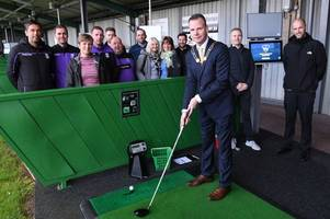 golfers can now play on world's most famous courses as relaunched north staffordshire driving range invests £300k in virtual reality technology