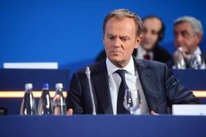 EU's Tusk to lead struggling European center-right umbrella group