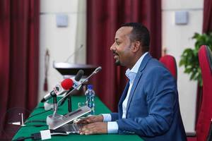 ethiopia's leader urges calm as key referendum begins