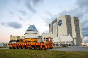 boeing rolls out starliner passenger spacecraft to launch site ahead of december flight