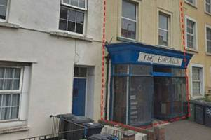 flats plan for former heavitree second hand record store