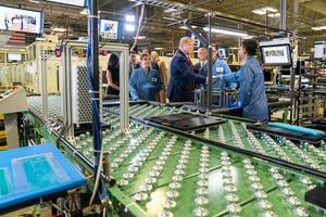 17 photos from inside trump's tour of an apple factory with tim cook (aapl)