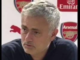spurs fans will love the swipe jose mourinho took at arsenal whilst he was man united manager