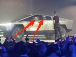 tesla's cybertruck launch went off the rails when its 'armor glass' windows were easily smashed in a live test