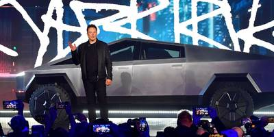 Tesla reveals Cybertruck, a 6-passenger pickup featuring 3 motors, armored glass, and up to 500 miles of range (TSLA)