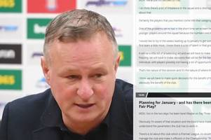 'this is crucial' - every word from michael o'neill's first pre-match press conference as stoke city manager