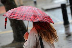 hour-by-hour weather forecast for cornwall as new yellow warning for heavy rain is issued