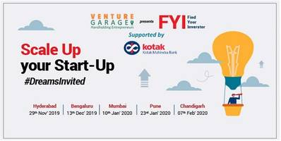 "venture garage announces the fy2019-20 edition of the ""find your investor"" programme, supported by kotak"